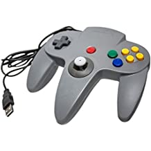 Link-e ® - NINTENDO 64 N64 gris USB para jugar en PC / Windows / MAC (Plug and Play, emulación, Retrogaming, joystick ...)