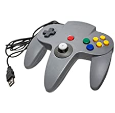 Link ® - NINTENDO 64 N64 grigio USB di giocare su PC / Windows / MAC (Plug and Play, emulazione, Retrogaming, barra di comando ...)