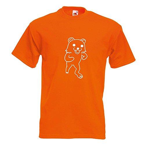KIWISTAR - Pedobär / Pedobear laufend T-Shirt in 15 verschiedenen Farben - Herren Funshirt bedruckt Design Sprüche Spruch Motive Oberteil Baumwolle Print Größe S M L XL XXL Orange