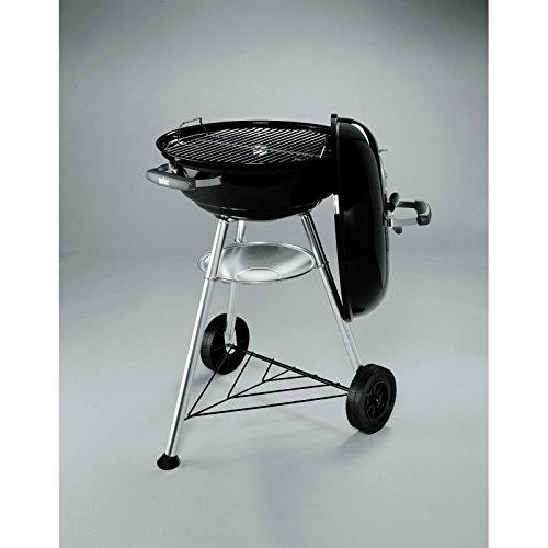 weber barbecue charcoal compact kettle cm 47 black garden rattan furniture. Black Bedroom Furniture Sets. Home Design Ideas