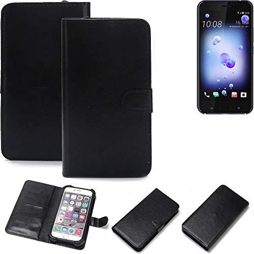 K-S-Trade 360° Wallet Case Handyhülle für HTC U11 Dual-SIM Schutz Hülle Smartphone Flip Cover Flipstyle Tasche Schutzhülle Flipcover Slim Bumper schwarz, 1x
