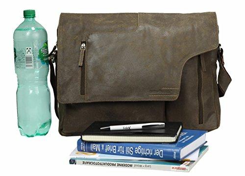 Greenburry Vintage Rough & Tough sac bandoulière cuir 40 cm clay