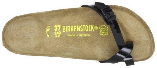 Birkenstock piazza 017093, Infradito donna Nero (Schwarz (schwarz lack))
