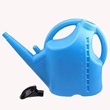 Wddwarmhome Redonda Potencia de la vasija de agua Potencia 9L Azul Gran Capacidad Riego Pot Botella de Agua Rociador Hervidor