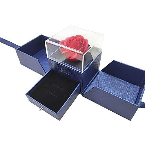 Schmuck geschenkbox Blume Band dekor schmuck papierbox mit Paket Tasche & Karte