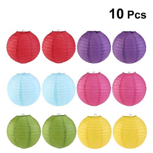 Mobestech 10pcs colores plegables linternas papel