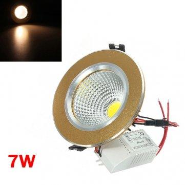 kyz-kuv-blanc-chaud-7-w-cob-led-plafond-down-light-golden-shell-85-265-v
