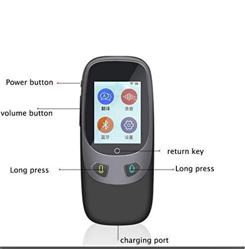 Sprachübersetzer Smart Sprache Zwei-Wege WiFi 2,4 Zoll IPS Kapazitiven Touchscreen Unterstützung Multi-Sprachen Frei Übersetzung