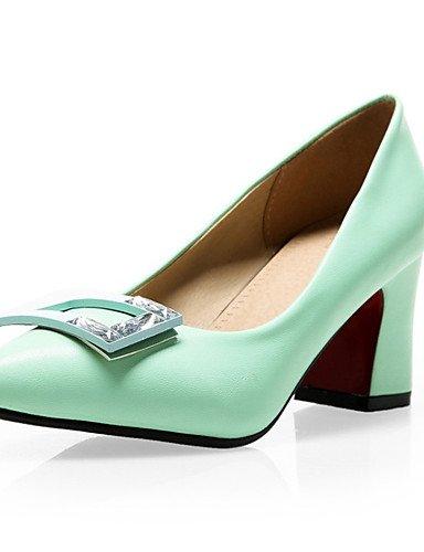 WSS 2016 Chaussures Femme-Mariage / Habillé / Décontracté / Soirée & Evénement-Noir / Vert / Blanc / Amande-Gros Talon-Talons-Chaussures à Talons- green-us9.5-10 / eu41 / uk7.5-8 / cn42