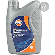Gulf Formula G 5w-40 Fully Synthetic Engine Oil 2 x 1 Litre 5W40 2L