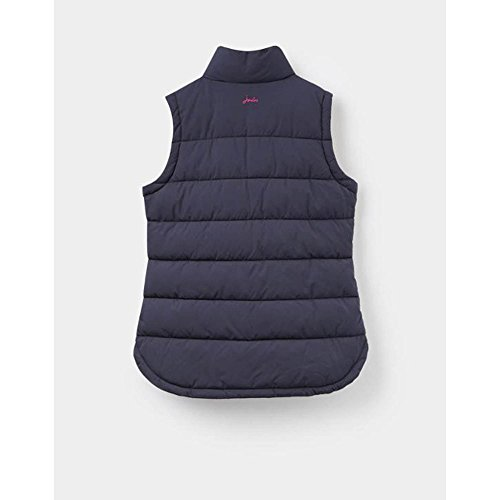 Joules Womens/Ladies Eastleigh Warm Padded Quilt Stitching Gilet Bodywarmer Marine Navy