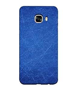 PrintVisa Designer Back Case Cover for Samsung Galaxy C7 SM-C7000 (Plain Blue Colour Design)