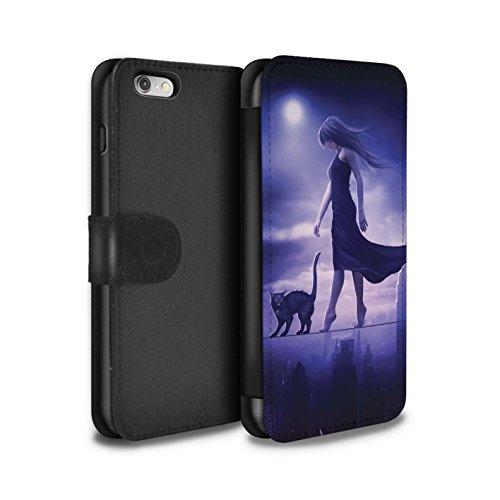 Officiel Elena Dudina Coque/Etui/Housse Cuir PU Case/Cover pour Apple iPhone 6 / Vent/Orage/Forêt Design / Magie Noire Collection Somnambule/Insomnie