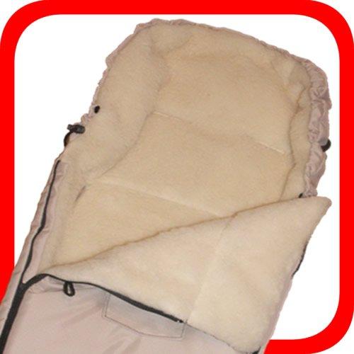 Baby Universal Fußsack, 100% Lammwolle, weiss -