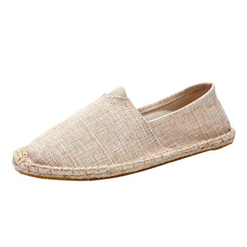 Dooxii Unisex Uomo Donna Durevole Casuale Loafers Scarpe Moda Tinta Unita Espadrillas Basse Scarpe Slip On Flats 36(23cm)