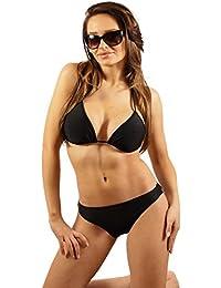 SK0030 STANTEKS Damen Badeanzug Triangel-Bikini Zweiteiler Schwimmanzug Klassischer Bikini Schwimmbekleidung Neckholder-Bikini