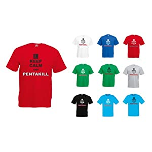 Keep Calm and Pentakill, League of Legends Video Game Inspirert Mann Gedruckt T-Shirt