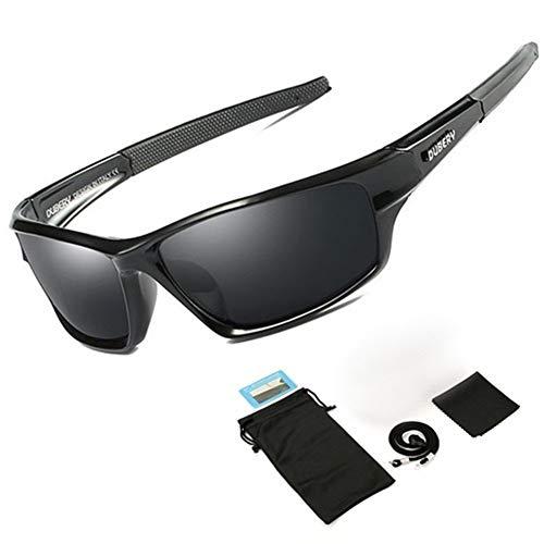 New Polarized Fishing Glasses Männer Frauen Schutzbrillen Reiten Sonnenbrille UV400 Outdoor Sport Eyewear Angelzubehör (Color : A)