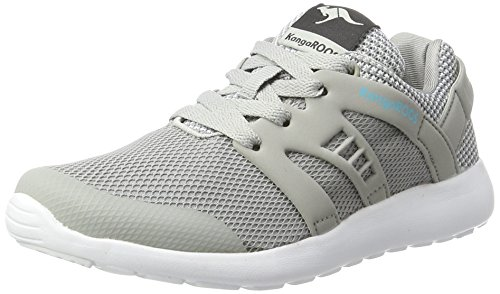 KangaROOS Unisex-Kinder Xcape Kids Sneaker, Grau (Lt Grey/Stone Blue), 32 EU