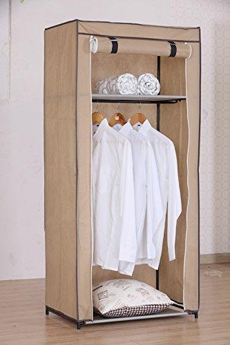 Textil Falt Kleiderschrank Textilkleiderschrank Faltkleiderschrank 70x46x150 cm 2290 (Beige)