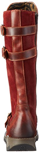 FLY London Sher730fly, Bottes Motardes Femme Rouge (Brick/wine 003)