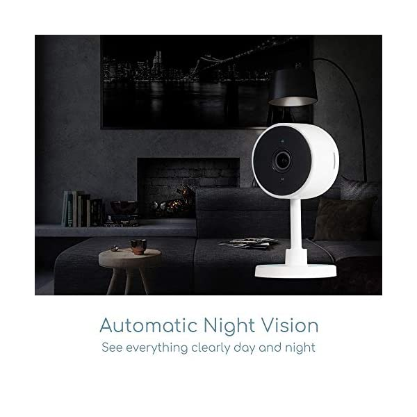 iPixo WiFi Indoor Home Security Camera, Wireless IP Cam with Infrared Night Vision, Instant Motion Alerts, 2 Way Audio, Live Stream, Recording, Playback, Alexa Support, Pet Dog Nanny (Triple Pack) ipixo Super easy to set up and install! A crystal, clear full HD image with a 107° angle lens giving an exceptional widescreen view of your kitchen, lounge, nursery or even office, day and night! The indoor wifi camera automatically switches to night vision with built-in IR cut filter when it gets dark so you never miss a thing. The advanced motion detecting technology sends instant alerts to your smartphone or tablet whenever movement detected. Up to 128GB local storage (Micro SD Card required - not included), the camera can record continuously for up to 21 days. Alternatively, set the camera to record only when movement has been detected, the camera will record the event and footage 5 seconds before, so you don't miss a thing! 2