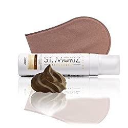 St Moriz Professional Self Tanning Mousse Medium 200ml mit Zubehör (Medium Mousse + Applikator)