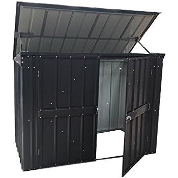 bbt hochwertige m lltonnenbox f r 3 tonnen je 120 liter mit klappdeckel in silber ral 9006. Black Bedroom Furniture Sets. Home Design Ideas