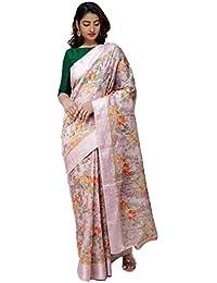 748a63edb6 Unnati Silks Women Banarasi Organza Saree with blouse piece from the  Weavers of Uttar Pradesh(