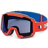 Briko - Masque de Ski LAVA - FRANCE pour homme et femme - 910 - BLUE RED -BM3 - ONE...
