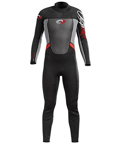 Osprey Origin pour garçon Combinaison de plongée de 5/4mm pour l'hiver – Noire/Rouge M Noir/Rouge