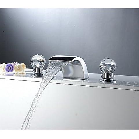 Septvl Uso generale Aquafaucet maniglia cristallo diffuso il lavandino del