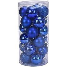 YARBAR Palla Ornamenti di Natale Exquisite palline colorate decorazioni di Confezione Ciondolo 24 - Giallo Di Natale Charm