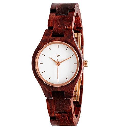 Kerbholz Damen-Armbanduhr Adelheid Analog Quarz Holz 0612524230919