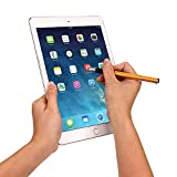 Janly Screen Touch Pen Stylus mit USB-Ladekabel für iPad 2/3/4 / Mini/Pro/Air Kapazitiver Apple-Tablettstift (Gold)