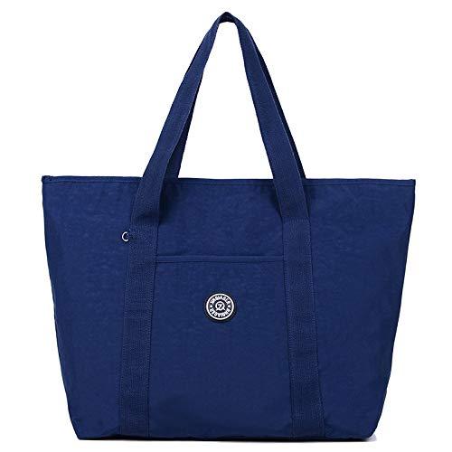 Neue weibliche Tasche Umhängetasche weibliche beiläufige Handtasche große Kapazität Schulter Mode Handtasche Tasche Flut dunkelblau