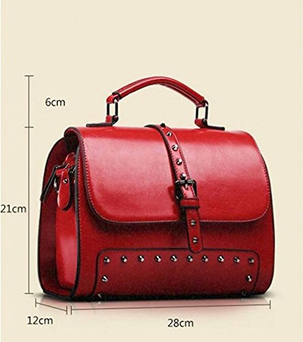 Art Und Weiseschulterbeuteldiagonalpaketlederhandtaschenart Und Weisehandtaschen Wilde Weidennägel Red