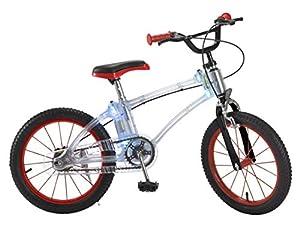 "Toim- Bicicleta 16"" Luces LED Rueda Hinchable ROJA 5/8 AÑOS, (7006)"