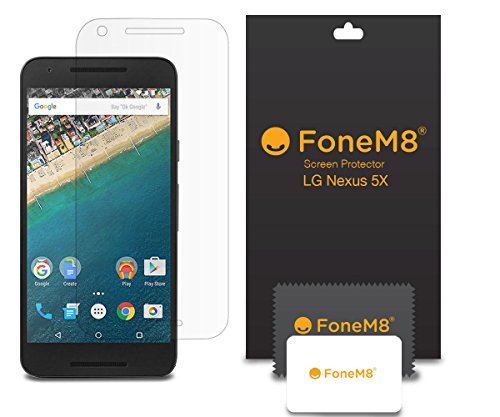 fonem8r-new-2015-lg-google-nexus-5x-screen-protector-pack-of-5-includes-microfibre-cleaning-cloth-an