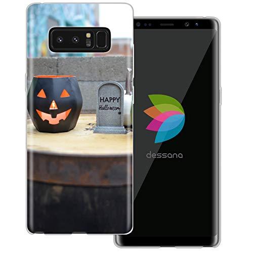 ansparente Schutzhülle Handy Case Cover Tasche für Samsung Galaxy Note 8 Happy Halloween ()