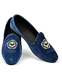 Lalhaveli Men Loafer Shoe Birthday Gifts Velvet Fabric Rubber Sole Man  Casual Shoes