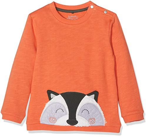 boboli Fleece Sweatshirt Flame For Baby Boy, Sudadera Unisex bebé (Naranja 5067), 74 (Tamaño del Fabricante:9M)