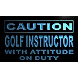 ADV PRO m573-b Caution Golf Instructor Neon Light Sign Barlicht Neonlicht Lichtwerbung
