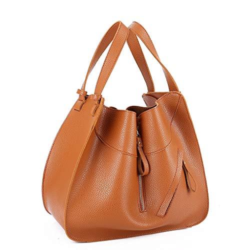 Tohole Zweiteiliges Set Handtaschen Damen Lederimitat Umhängetasche Taschen Taschen Groß Mit Quasten Lässige Retro Tasche Handbag (khaki)