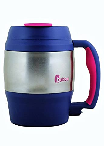 bubba 52 oz mug classic navy with pink trim