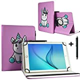 Tablet Hülle 10.1 Zoll für Jay-tech TXE10DW2 Tablet PC Schutzhülle Case Etui mit 360 Drehbare Standfunktion - Einhorn