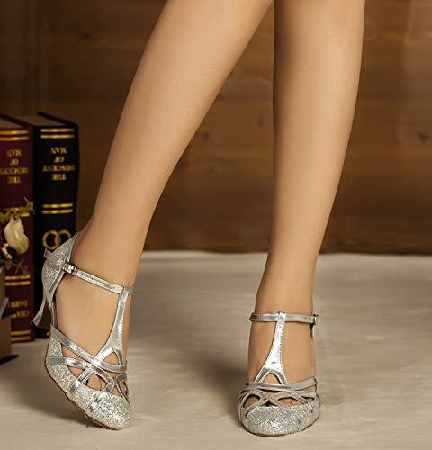 Minitoo , Damen Tanzschuhe, Silber – silber – Größe: 41.5 - 4