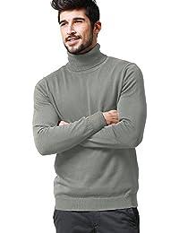 Match Suéter de Jersey de Cuello Chal de Punto de Hombre #1619 4CLatL