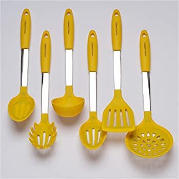 Yellow Cooking Utensil Set Stainless Steel Amp Silicone