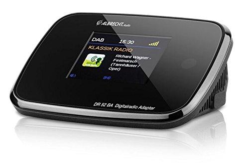 Albrecht DR 52 BA DAB+/UKW-Radio-Adapter mit Bluetooth und Farbdisplay, Antennenbuchse, Wurfantenne